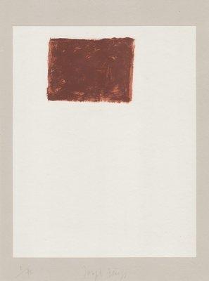 Joseph Beuys Lithograph Schwurhand: Wandernde Kiste Nr. 5