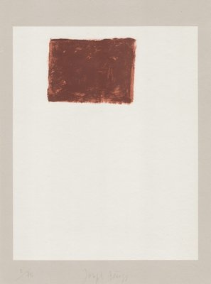 Joseph Beuys Lithographie Schwurhand: Wandernde Kiste Nr. 5