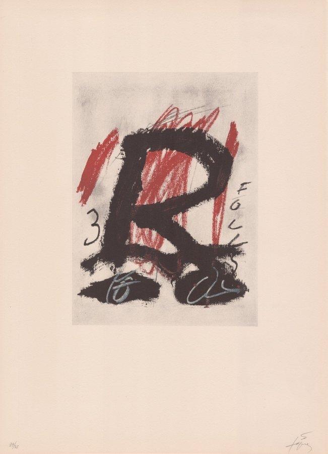 Antoni Tapies Original Grafik Clau del Foc V