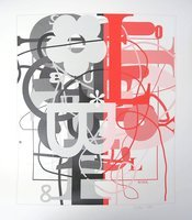 Christopher Wool o.T. I Grafik Siebdruck