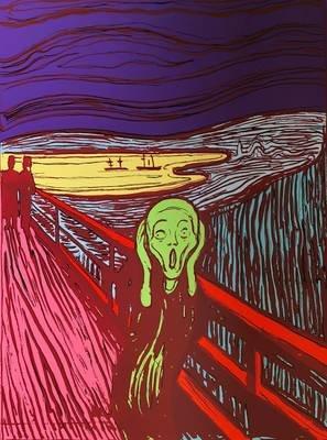 Andy Warhol The Scream Grün Siebdruck Sunday B. Morning