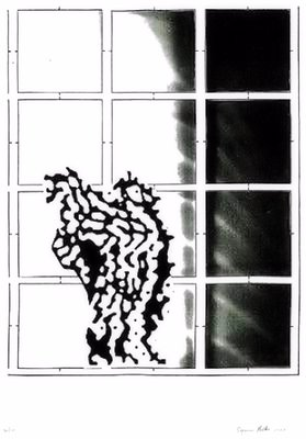 Sigmar Polke Gespenst Grafik Siebdruck
