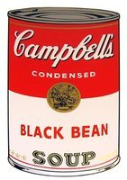 Andy Warhol Campbells Soup Black Bean Siebdruck Sunday B. Morning