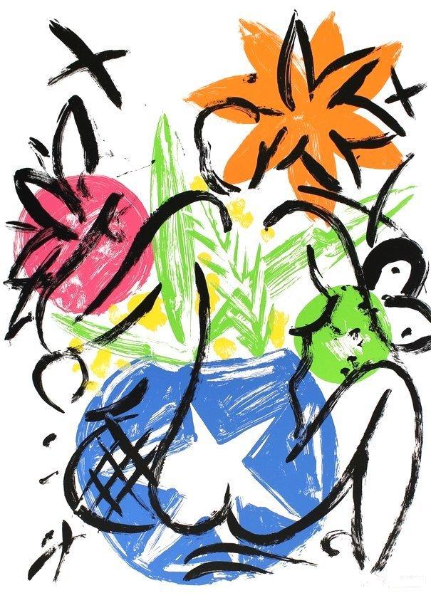 Stefan Szczesny Siebdruck Grafik Garten Eden