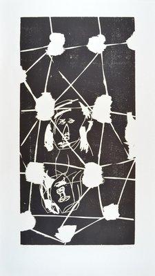 Georg Baselitz Woodcut Print Kellerloch