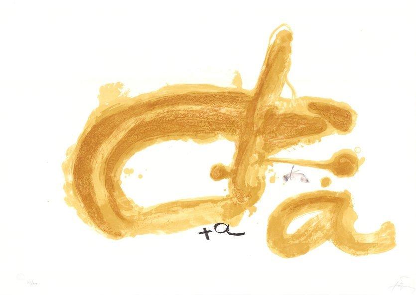 Antoni Tapies Lithographie Bild Initiales