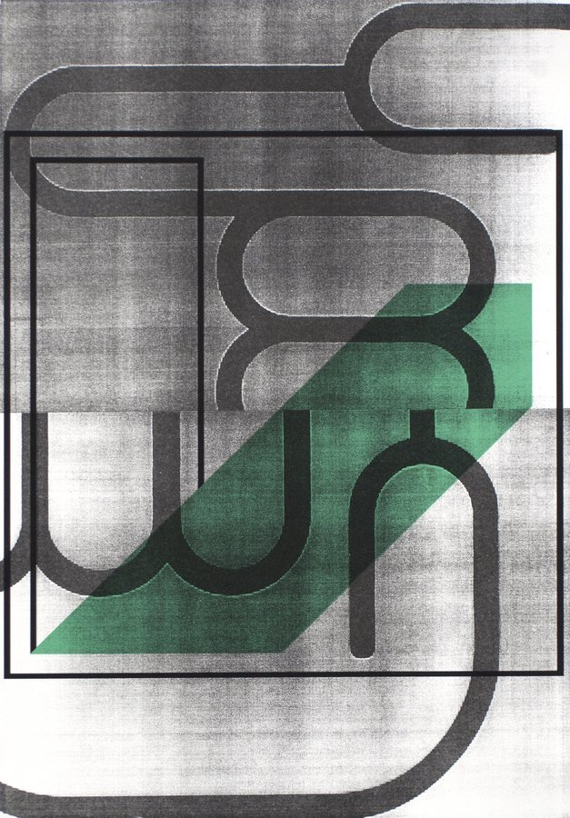 Anne Neukamp Twist Print Lithograph