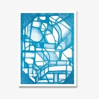 Joanne greenbaum untitled blue 3406 small