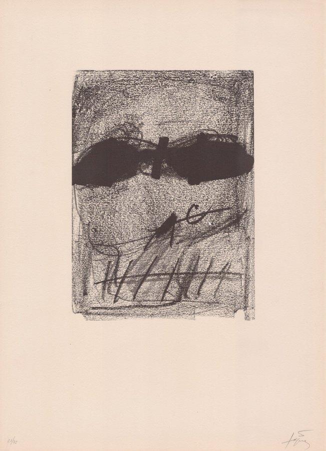 Antoni Tapies Print Clau Del Foc III