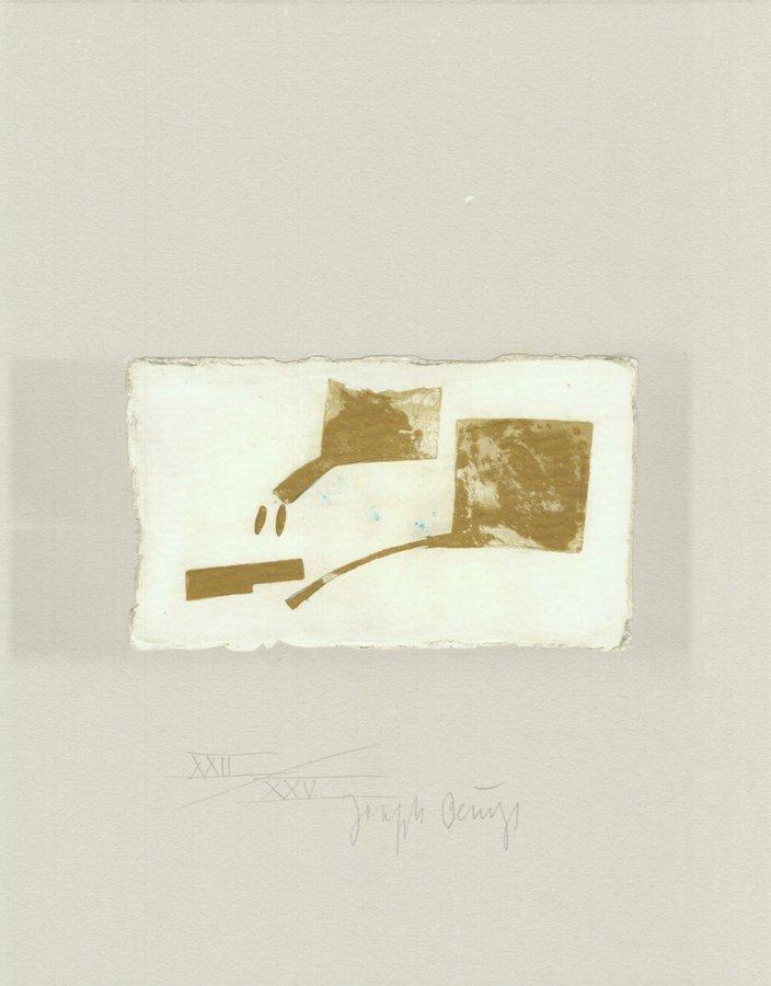 Joseph Beuys Schwurhand: Skulptur aus Gold Lithographie
