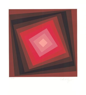 Victor Vasarely Lithograph Voeroech I