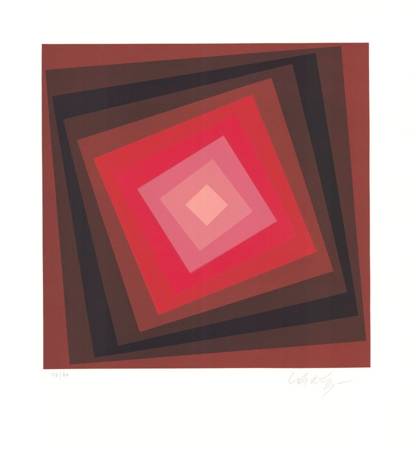 Victor Vasarely Lithographie Voeroech I