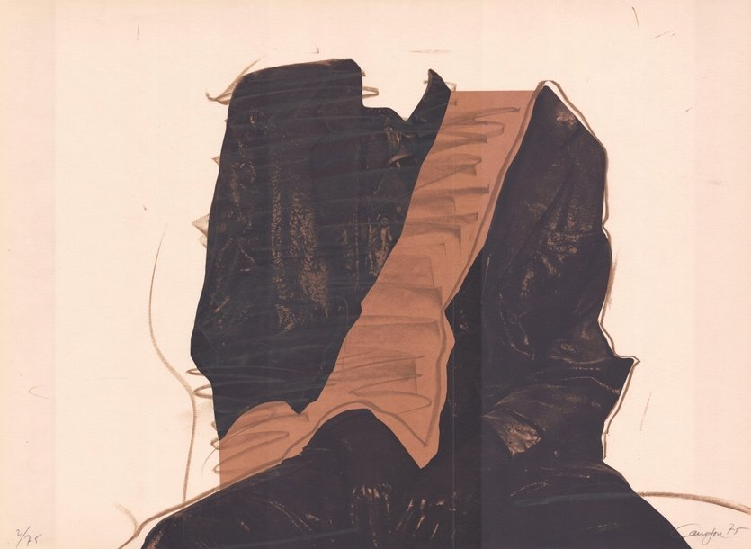 Rafael Canogar Lithographie Sitzende Figur
