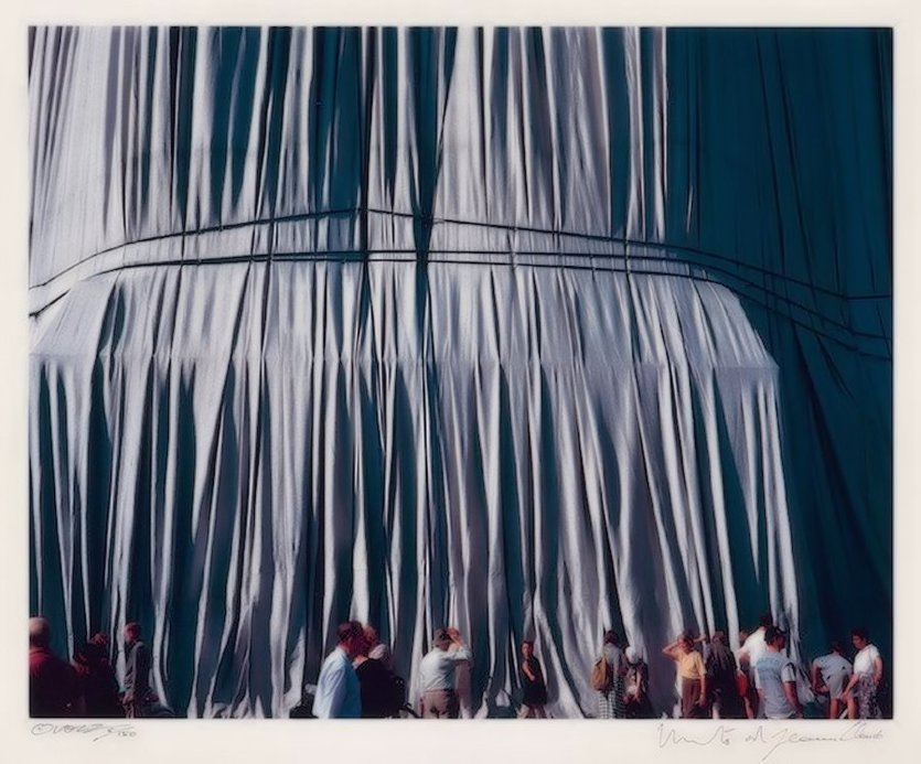 Christo and Jeanne-Claude Reichstag Faltenwurf Photograph