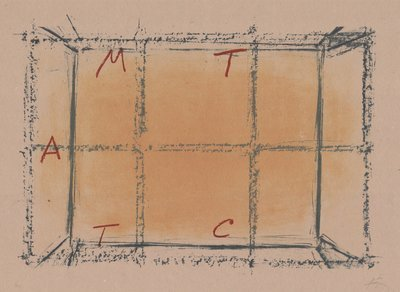 Antoni Tapies Print Llambrec Material XVIII
