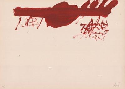 Antoni Tapies Print Clau Del Foc XIII