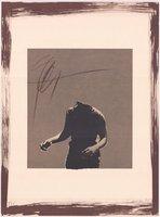 Rafael Canogar Grafik Blinde Figur