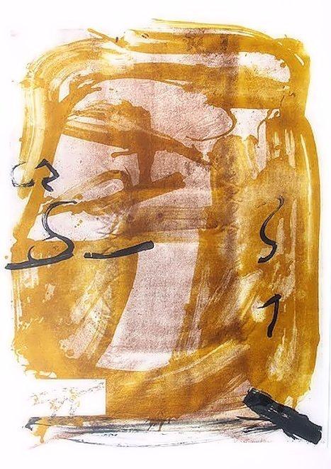 Antoni Tapies Lithograph Apparition
