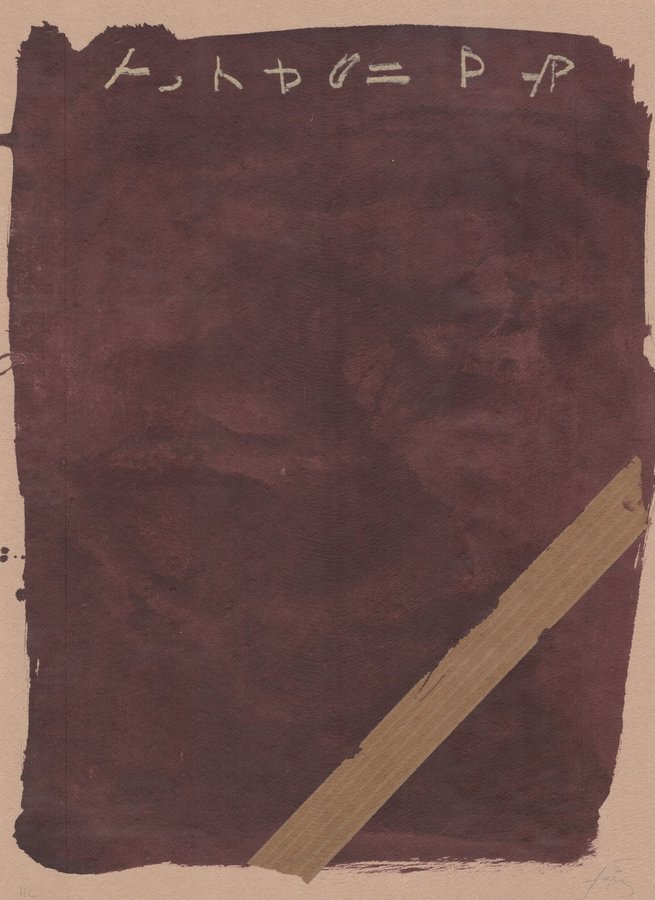 Antoni Tapies Grafik Llambrec material XIII