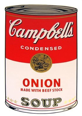 Andy Warhol Campbells Soup Onion Serigraph Sunday B. Morning