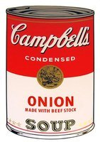 Andy Warhol Campbells Soup Onion Siebdruck Sunday B. Morning