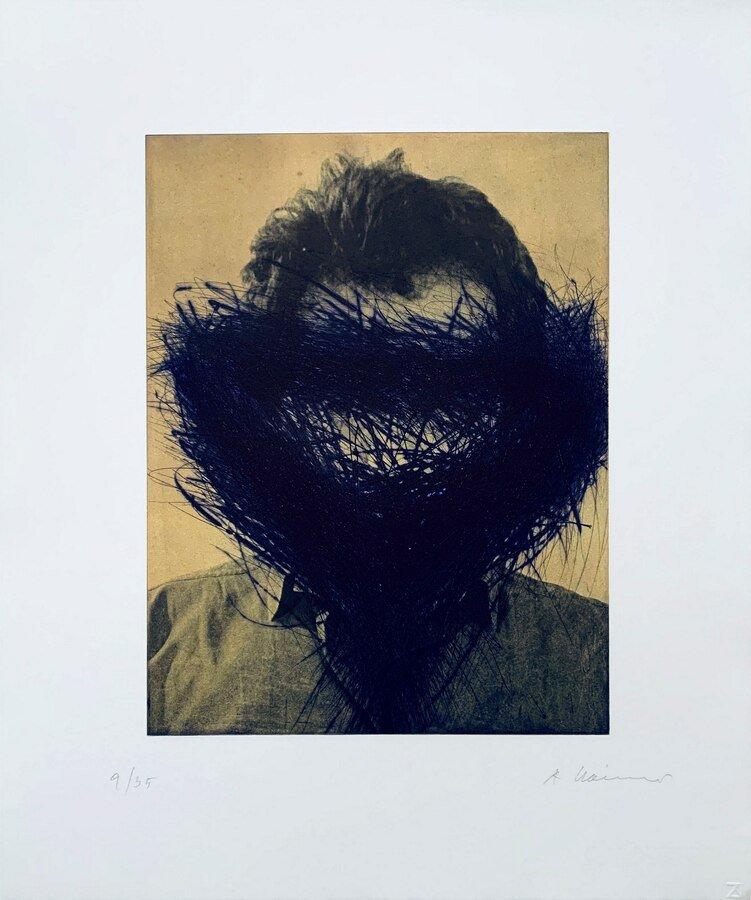 Arnulf Rainer Lila Maske Grafik Radierung