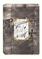 Antoni Tapies Lithograph Scotch