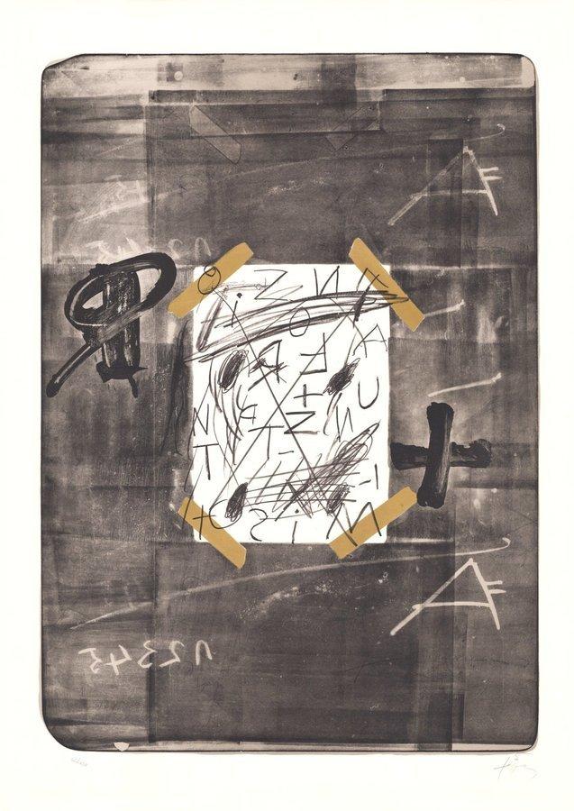 Antoni Tapies Lithograph Scotch