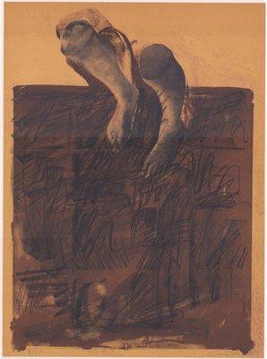 Rafael Canogar Lithographie Der Gehende