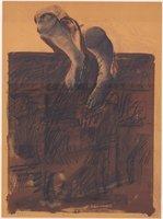 Rafael Canogar Lithograph Der Gehende