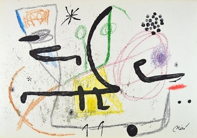 Joan Miro Lithograph Print Maravillas 9