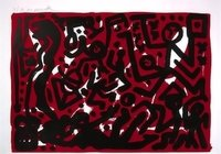 A.R. Penck  Lausanne 2 Print Lithograph Aber Hallo
