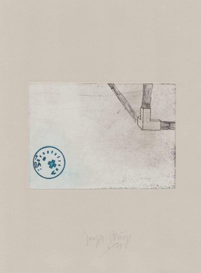 Joseph Beuys Zirkulationszeit: Raumecke, Filz, Fett Druckgrafik