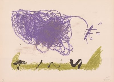 Antoni Tapies Print Clau Del Foc XVI