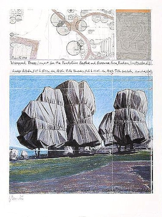 Christo Wrapped Trees Nr.II Print