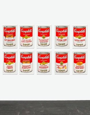 Andy Warhol Campbells Soup Can II Set Siebdruck Sunday B. Morning