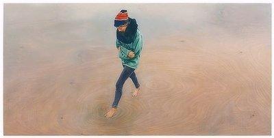 Christoph Pöggeler Original Grafik Mädchen am Meer