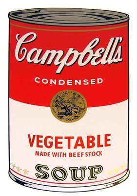 Andy Warhol Campbells Soup Vegetable Siebdruck Sunday B. Morning