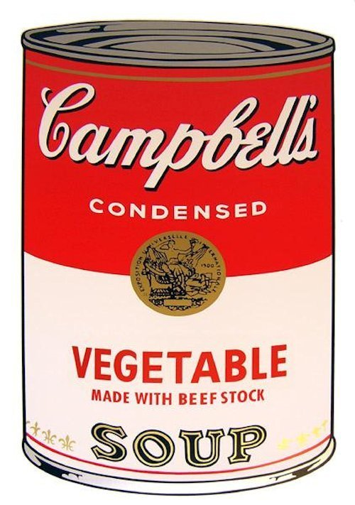 Andy Warhol Campbells Soup Vegetable Serigraph Sunday B. Morning