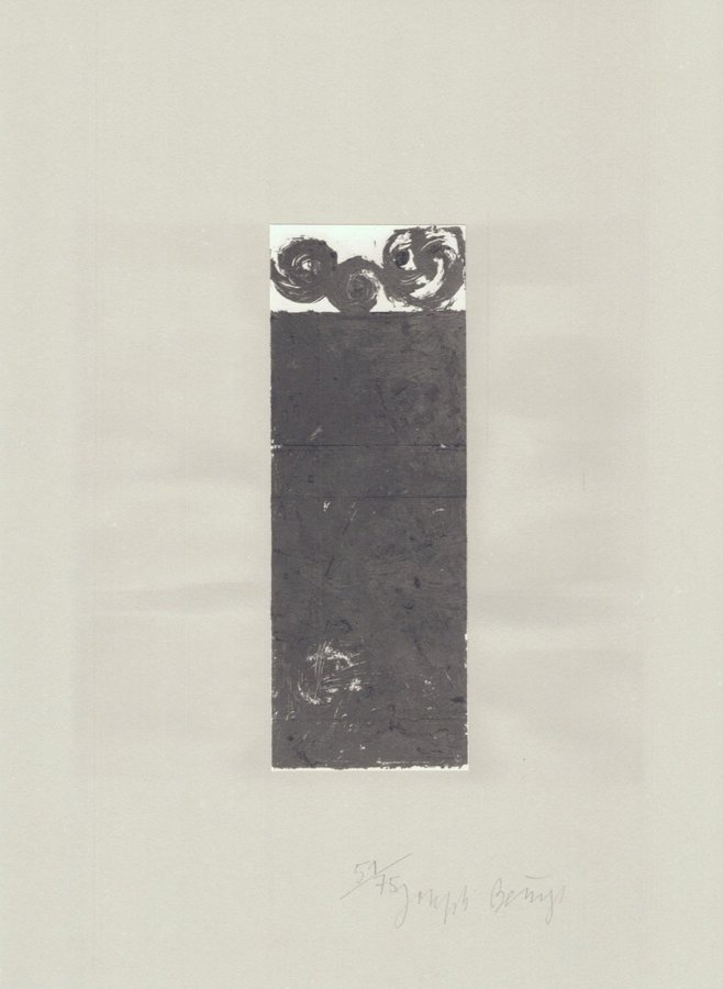 Joseph Beuys Lithographie Schwurhand: Scrolls