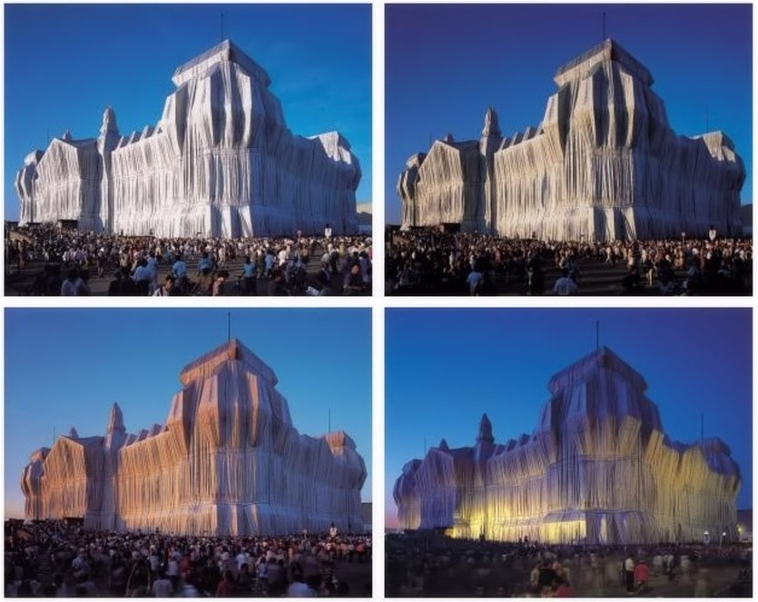 Christo and Jeanne-Claude Reichstag Portfolio I Photographs