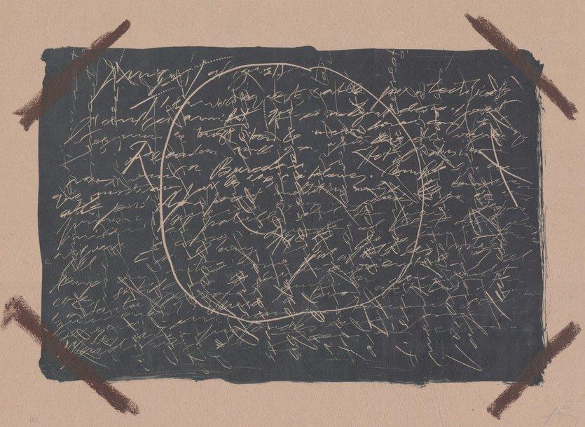 Antoni Tapies Bild Grafik Llambrec material XVI
