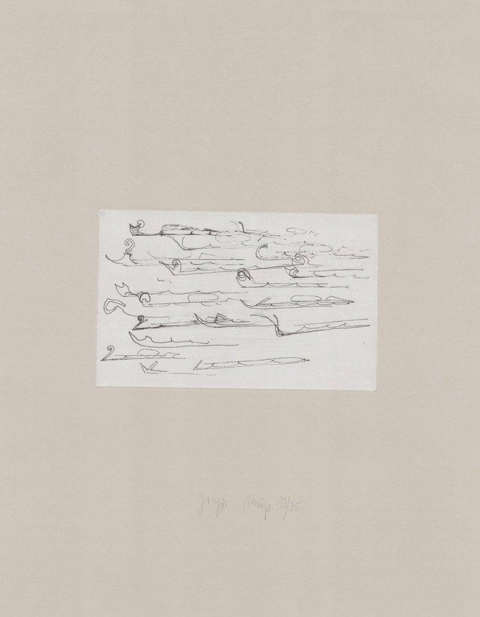 Joseph Beuys Zirkulationszeit: Urschlitten II Etching