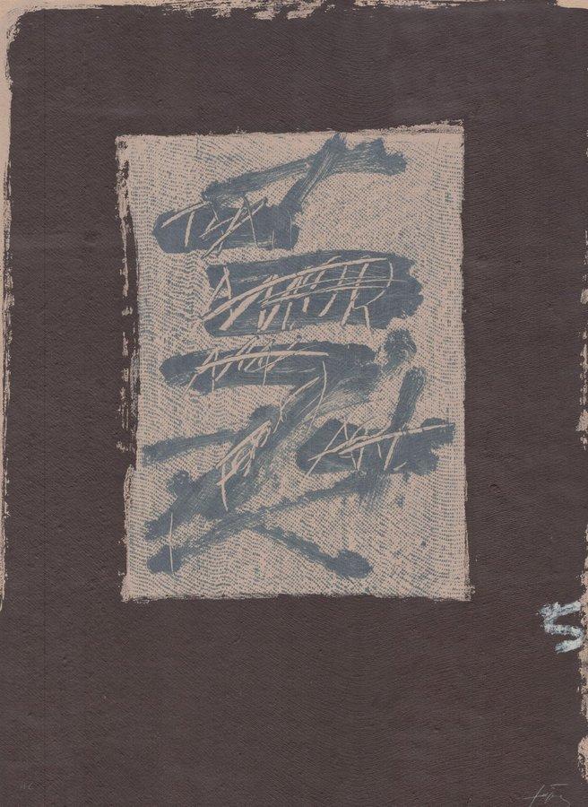 Antoni Tapies Original Grafik Llambrec material XVII