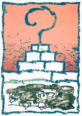 Pierre Alechinsky Grafik Lithographie Zigouratt
