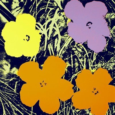 Andy Warhol Flowers Yellow Serigraph Sunday B. Morning