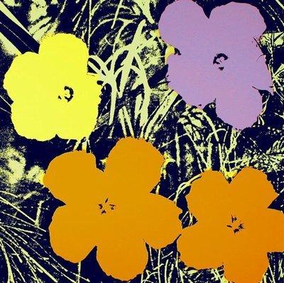 Andy Warhol Flowers Gelb Siebdruck Sunday B. Morning