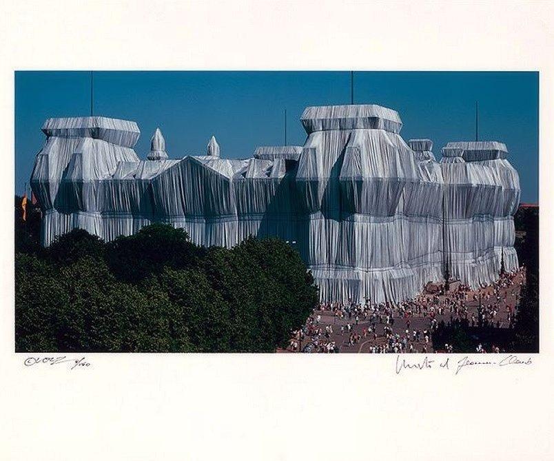 Christo und Jeanne-Claude Reichstag Südfassade Fotografie