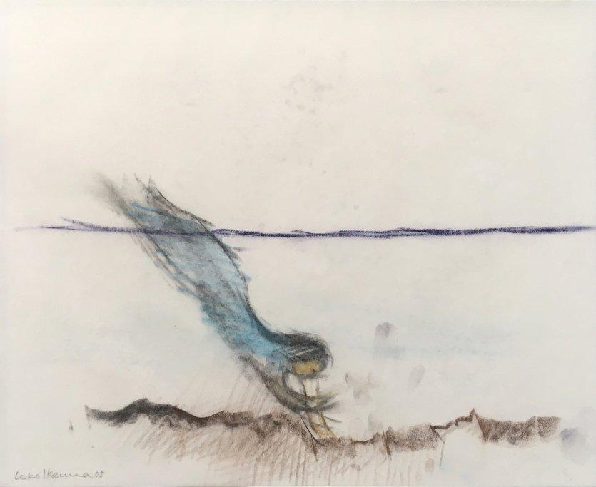 Leiko Ikemura Zeichnung Wellen - Wind - Wesen
