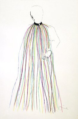 Jim Dine Dorian Gray, Rainbow Collar Print